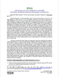 Informe IIPA 301 - España - 2011