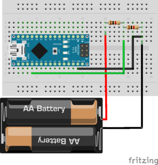 Blogging in the wind: Visualino: How to measure voltage with Arduino