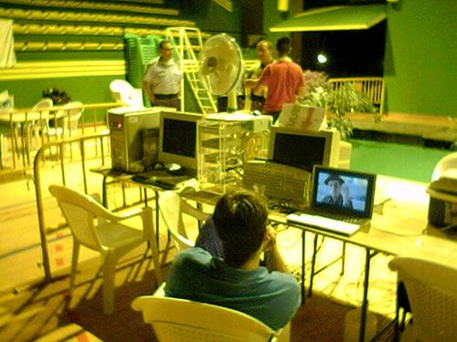 Viendo películas con un PowerBook
